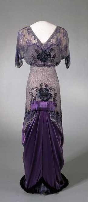 1910-1913: Queen Maude of Norway's Dress via Nasjonalmuseet, Oslo.