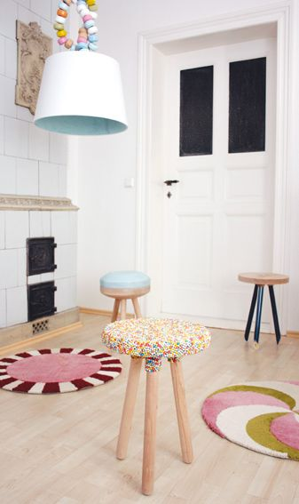 candy stool and lamp: Candy Theme, Kirstin Overbeck, Candy Furniture, For Kids, Candy Rooms, Candy Collection, Theme Rooms, Sweet Decor, Candy Decor