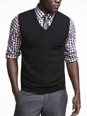 Okay @Sarah M.B. Since both of our hubbies want a sweater vest, I found this look and I actually kind of like it
