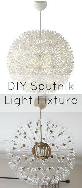 Diy Gold Sputnik Makeover Ikea Hack Bloggers 39 Best Diy