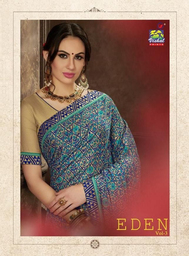 8f36a723d vishal prints eden vol 3 wedding stylish fancy saree wholesale dealer surat  - Krishna Creation