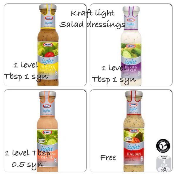 Kraft Light Salad Dressing Values :)