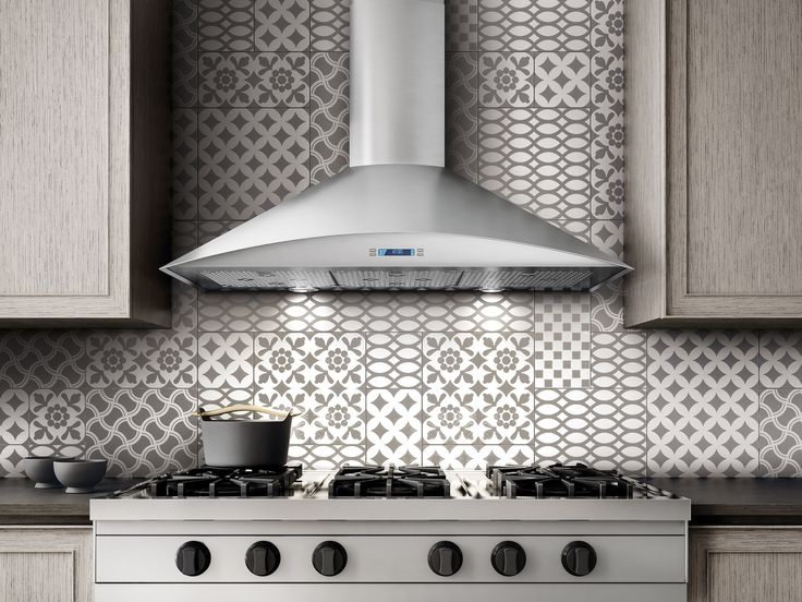 "FOGLIA is a #kitchenHood that features a gently arched front that softens the unit's profile and provides an angled panel for easy access to the controls. Available in 30"" & 36"" widths, Foglia #hood includes a powerful 600 CFM blower"