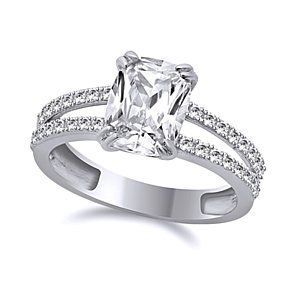 3.25 Ct Engagement Ring Cushion Cut Solid 14K White Gold Bridal Jewelry # Free Stud Earring by JewelryHub on Opensky