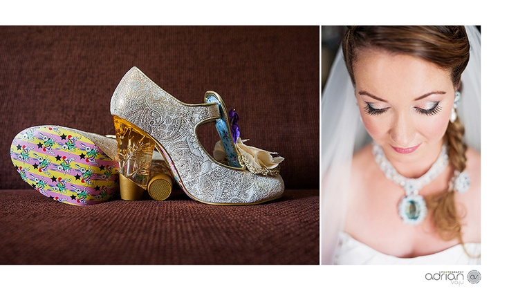 Gorgeous dress, superb make-up, beautifull bride