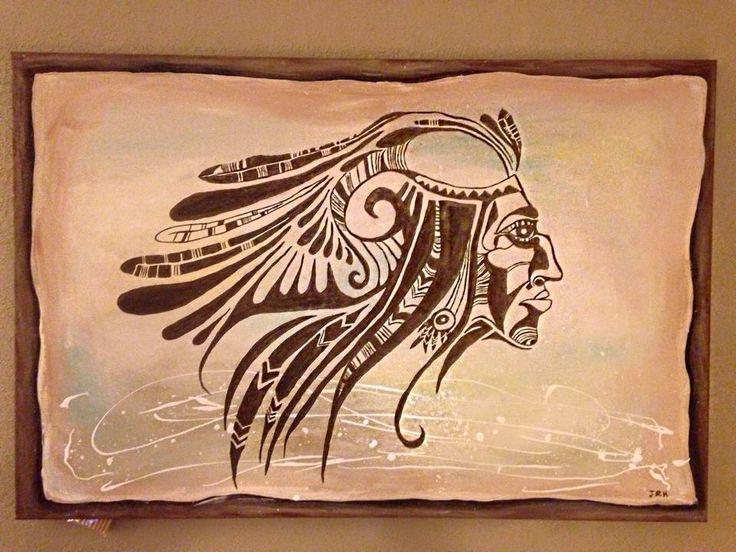 Acrylics over canvas