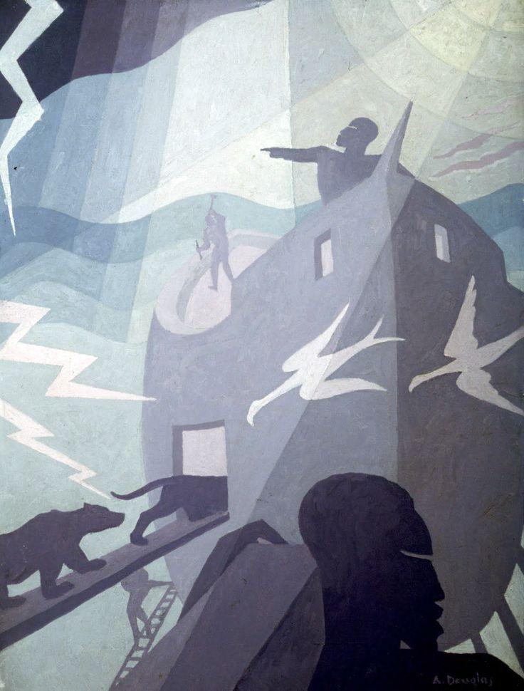 Noah' Ark 1936 - layered geometric shapes creates tones in the minimalistic colour