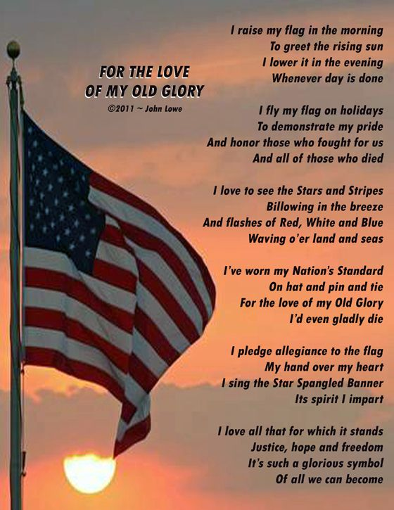 For the Love of My Old Glory