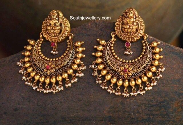 Heavy chandbal style earrings