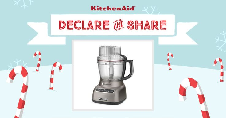 All I want for Christmas is the KitchenAid Architect® 13-Cup Food Processor in Cocoa Silver! Declare & Share the KitchenAid small appliance on your wish list, and you could win it! http://declareandshare.ca/
