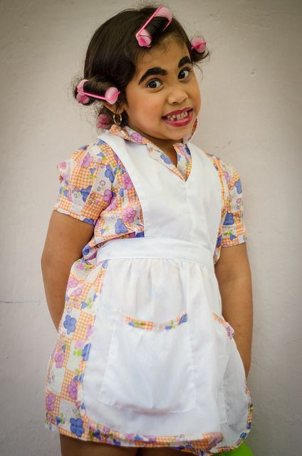 """Halloween costume of my little child, From """"El chavo del 8"""" Doña florinda costume for this halloween"""