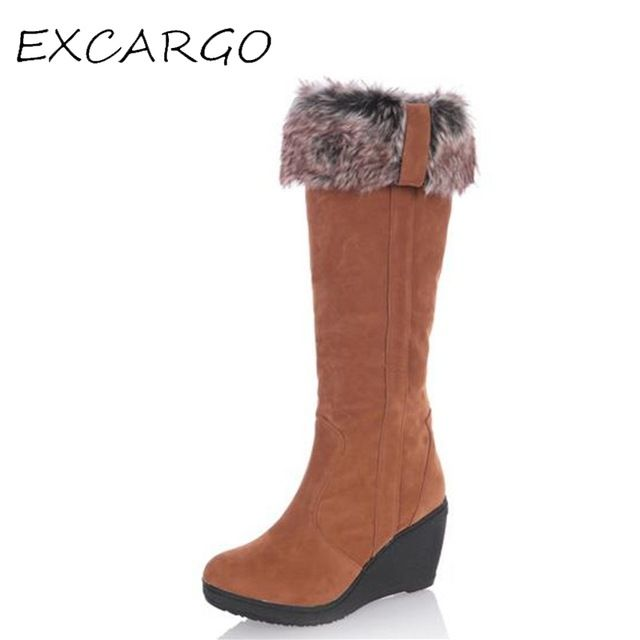 Special offer Wedge Fur Turn Down Fashion Women's Winter Snow Boots New Warm Female High Boots 8cm 2 Ways Wear Botas Para La Nieve Mujeres just only $25.23 with free shipping worldwide  #womenshoes Plese click on picture to see our special price for you