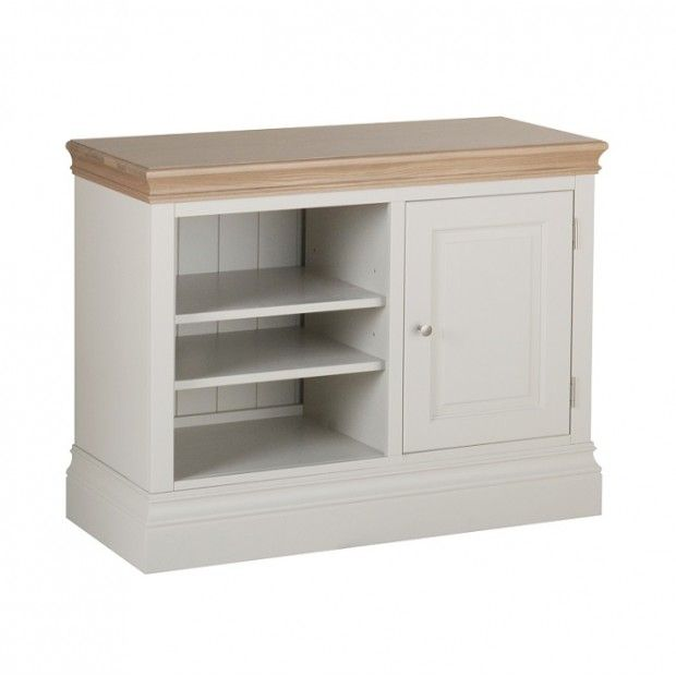Country Oak and Painted Small TV Cabinet | Oak Furniture UK