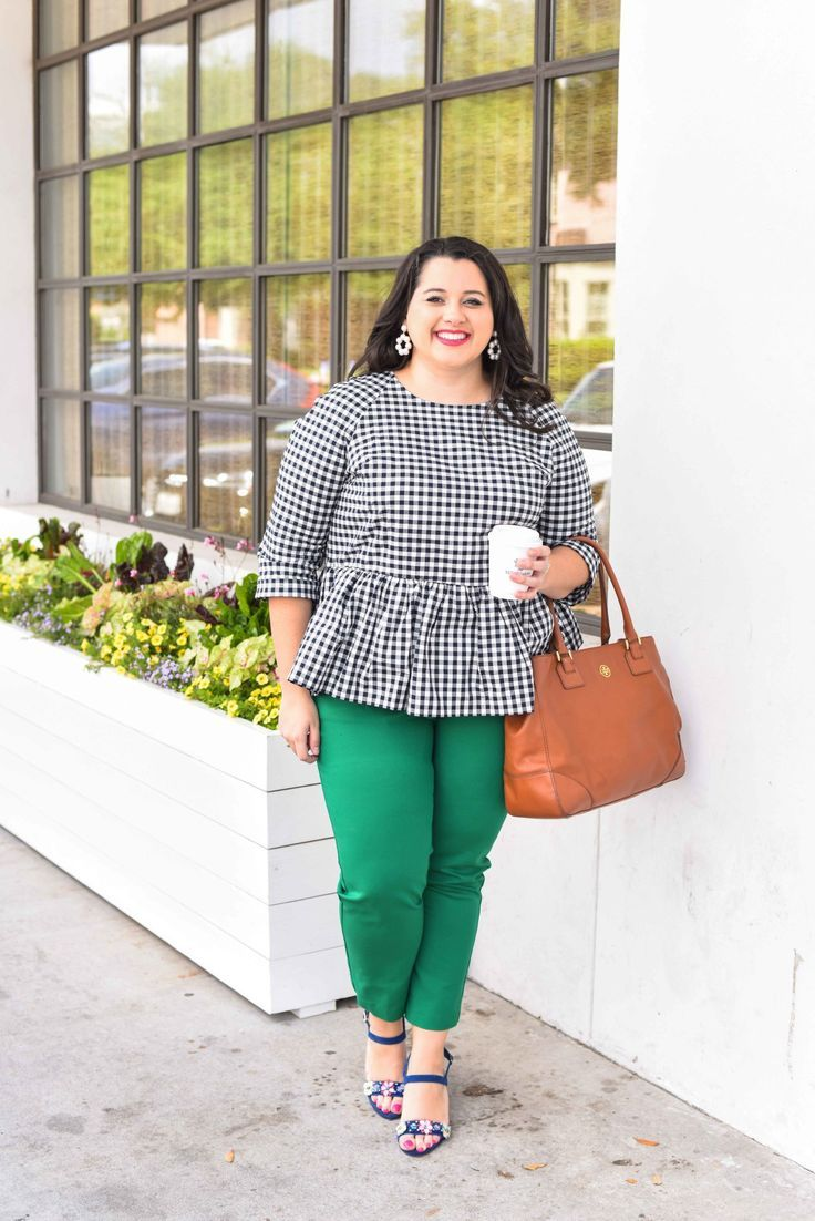 Traveling can be stressful, especially when your flight is delayed or even worse, cancelled. In today's blog post, I'm sharing a few travel delay tips that will help you make the best of the situation. I'm also talking about wearing a quintessential preppy item, a gingham peplum top. Emily Bastedo from the curvy style blog, Something Gold, Something Blue, is sharing how she is styling this gorgeous spring top perfect for both work and happy hour. Plus size, curvy, fashion, style...