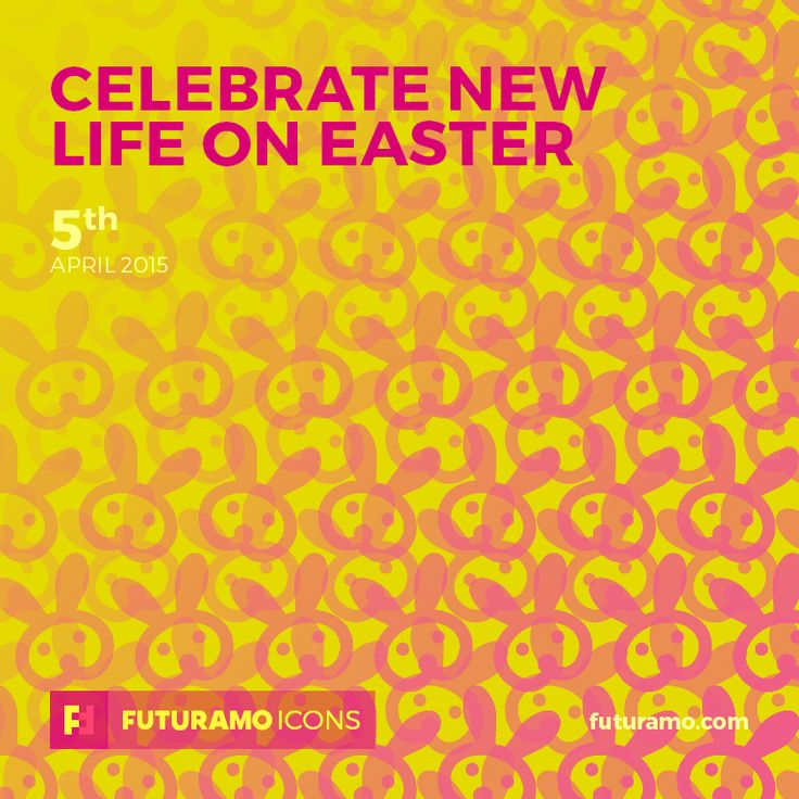 Celebrate new life on Easter! Check out our FUTURAMO ICONS – a perfect tool for designers & developers on futuramo.com