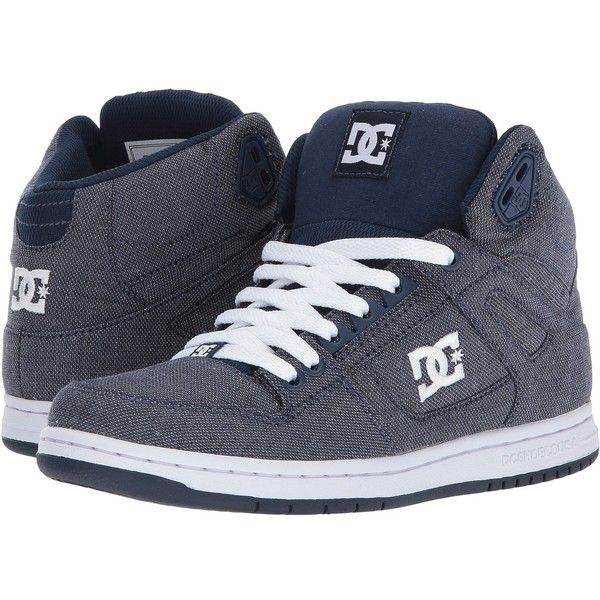 DC Rebound High TX SE (Chambray) Women's Skate Shoes (€68) ❤ liked on Polyvore featuring shoes, traction shoes, grip shoes, hi tops, hi top skate shoes and breathable shoes