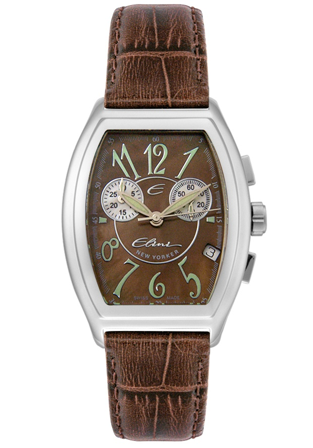 Price:$119.99 #watches Elini BR12325ABR, The Elini brand create a modern and urban look in premiun grade stainless steel case and a fashionable leather strap, this Elini chronograph timepiece is a vogue addition to your wardrobe.