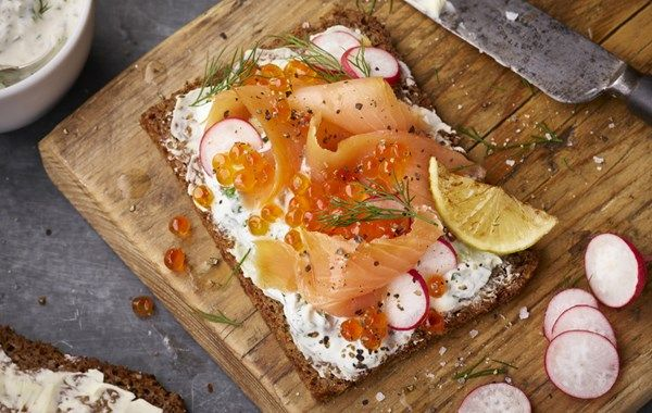 Smoked Salmon is a classic smorrebrod.