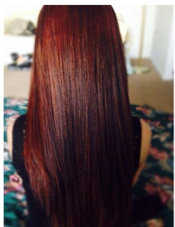 New Hair Color: Clairol Natural Instincts Medium Auburn Brown (Cinnaberry #22) | 2015 Hairstyle Ideas