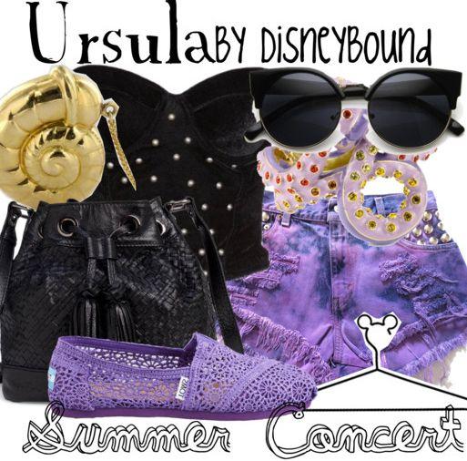summer concert | Disney Bound Ursula