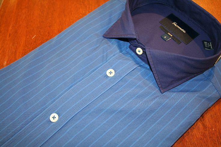 Faconnable  Strpe  Sport Shirt  Blue   #Mondo #Uomo #Naples #Fashion