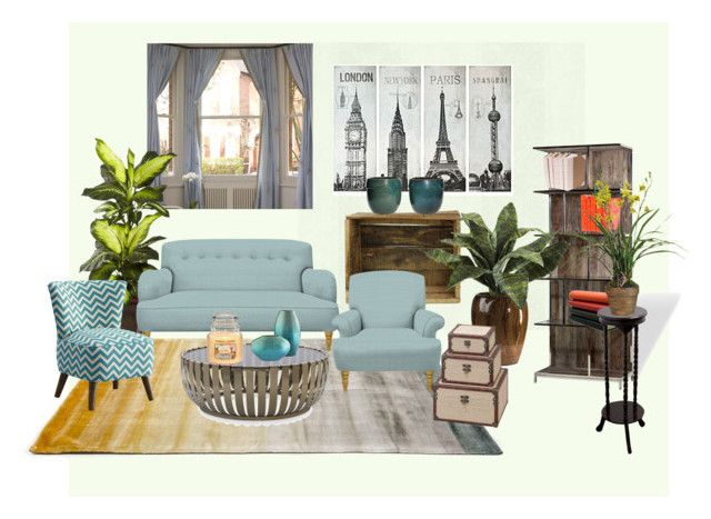 Livingroom by veka1915 on Polyvore featuring interior, interiors, interior design, home, home decor, interior decorating, Mitchell Gold + Bob Williams, Dot & Bo, Linie Design and Nearly Natural