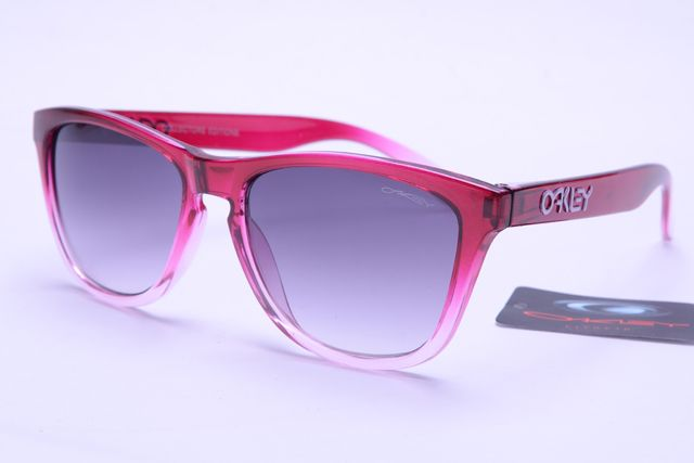 0eb704caada Oakley Frogskins Pink Frame Purple Lens Sunglasses