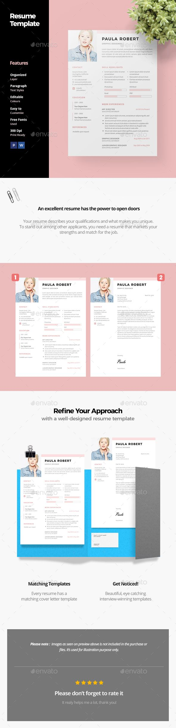 nurse practitioner cover letter%0A Resume Template PSD  MS Word  A  and US Letter Size