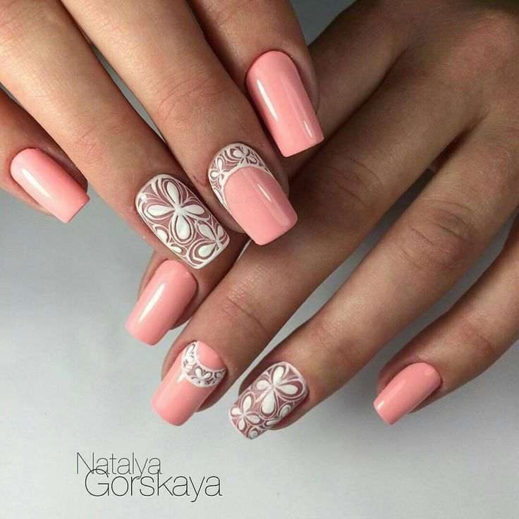 134 best images on pinterest nail art designs flower nail art flower summer nails ideas of gentle nails lacy nails ring prinsesfo Images