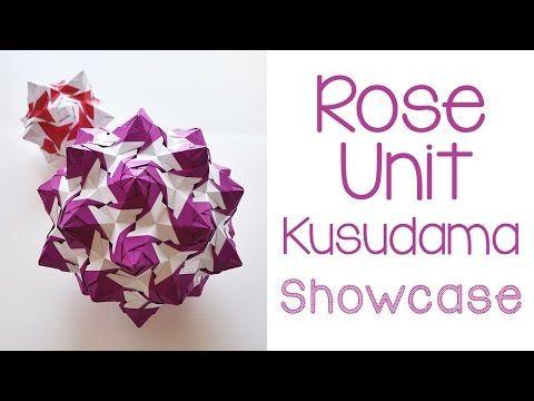 Rose Unit Kusudama Showcase - YouTube