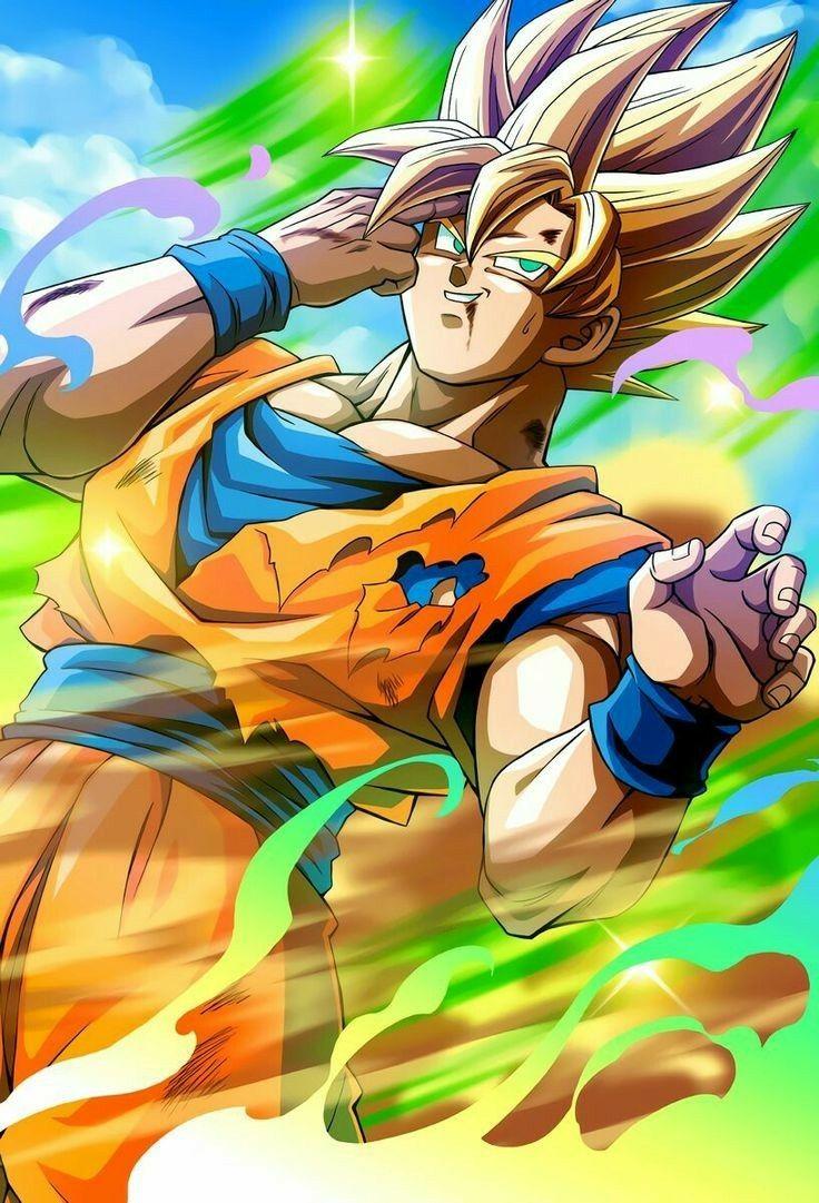 Goku ssj saga cell dragon ball gt personagens de
