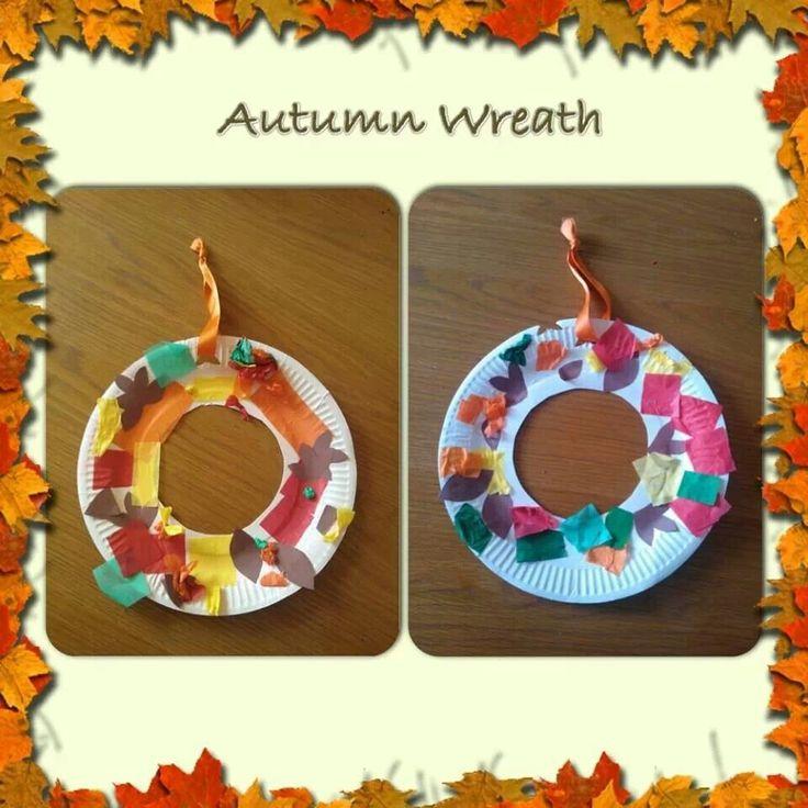 Autumn craft wreath
