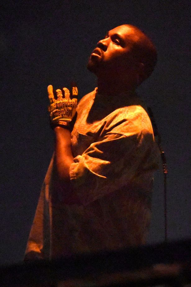 Kanye West performs at the United Center in Chicago