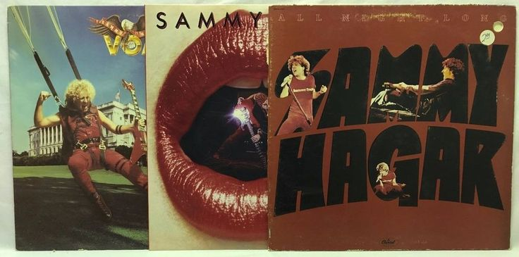 Sammy Haggar Lp Vinyl Record Lot Live All Night Long