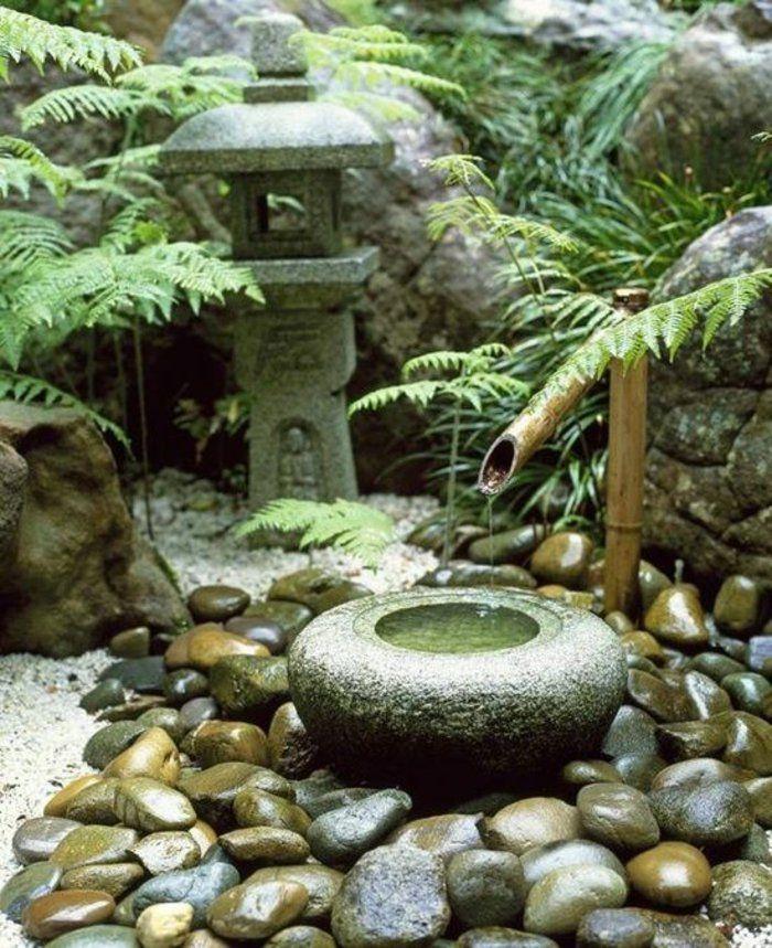 gartengestaltung mit stein und wasser japanischer stil