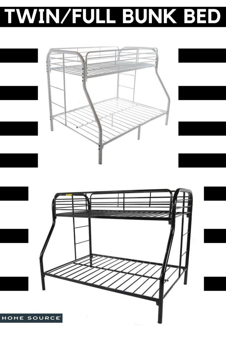 Twin/Full Bunk Bed   #bunkbeds #bed #bedroom #bedroomideas #bedroomdecor #bedroomdesign #bedroomfurniture