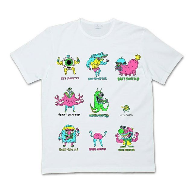 "CRMC Kidswear X @russelltaysom ""Monster Line Up"" Kids Tee available at www.crmc-clothing.co.uk 