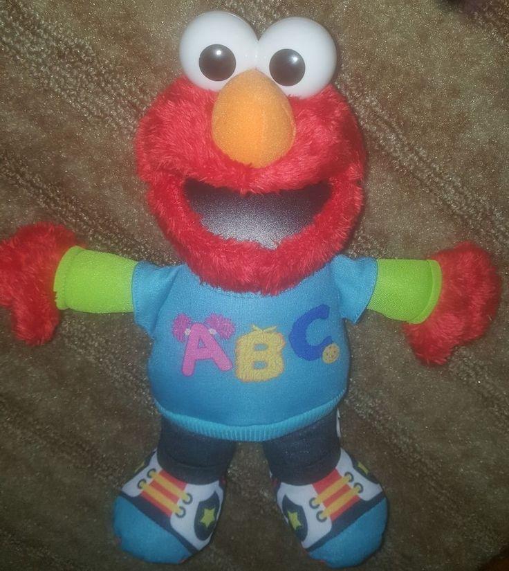 Sesame Street TALKING ABC ELMO PLUSH 2013 Hasbro Sings the Alphabet Song #Hasbro