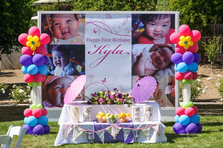 ... ideas  ... my share of backdrops but this korean 1st birthday party s