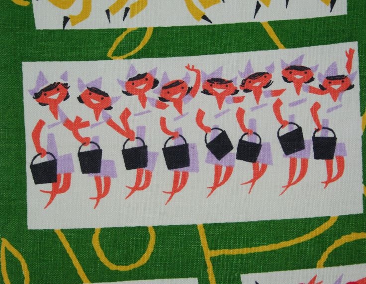 17 best images about i love vintage 50s 60s 70s fabric on for 12 days of christmas table cloth