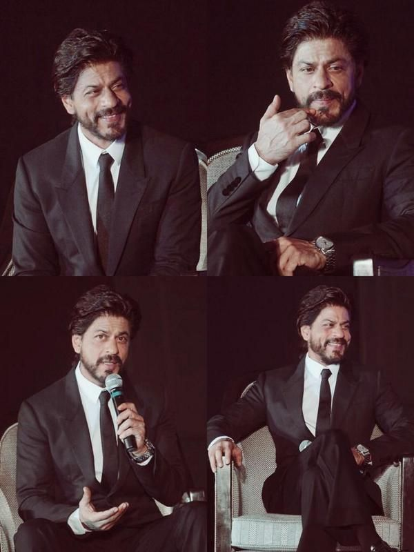 "Embedded image permalink-SRK at Gitanjali's ""Ticket to Bollywood"" launch yesterday."