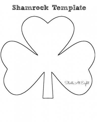 St. Patrick's Day Craft ~ Tissue Paper Shamrock - StartsAtEight Shamrock template