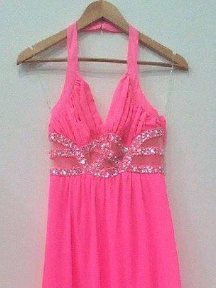 Bella Ragazza, Vestido rosa fosforescente de fiesta,