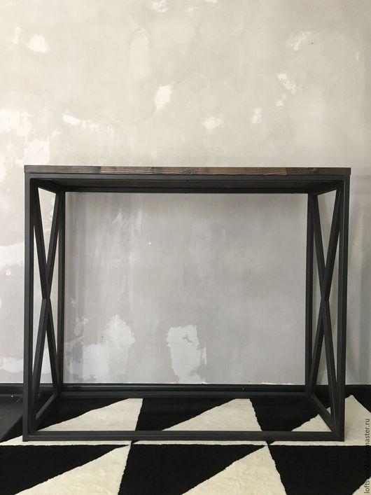 Мебель ручной работы. Стол GAMBIT темная столешница. 24_7MAGAZIN. Ярмарка Мастеров. Стол парикмахера, лофт стол