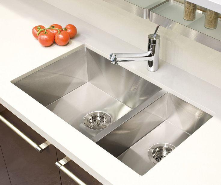 "UrbanEdge 29"" x 17.5"" Undermount Double Bowl Kitchen Sink"