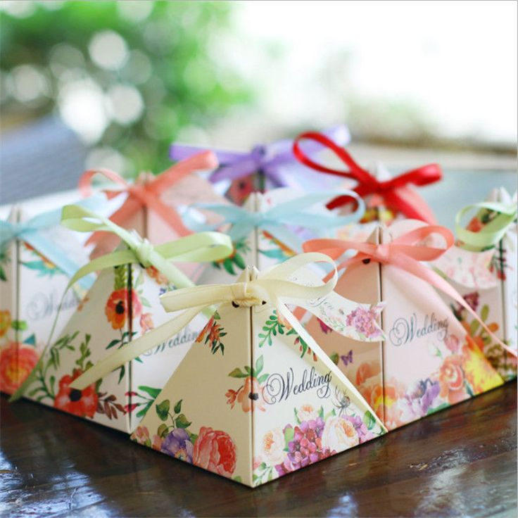 2016 Wedding Party Sweets Cake Candy Gift Favour Favors Boxes Flower Paper Bags