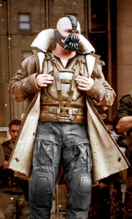 The famous celebrity #TomHardy as bane in movie the dark night rises coat .Now avail on Fjackets online store .