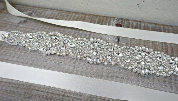 Bridal sash bridal belt sash belt by ConstanceHandcrafted on Etsy