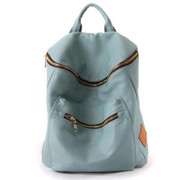 Modern Leather Backpacks For Women Laptop Satchel 9 Colors at doozybag.com
