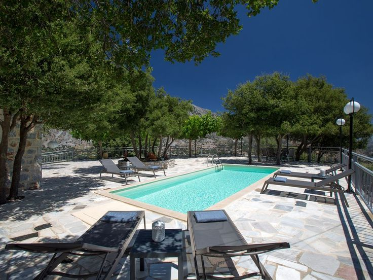 Sfakia villa rental - The surrounding area is full of green trees!